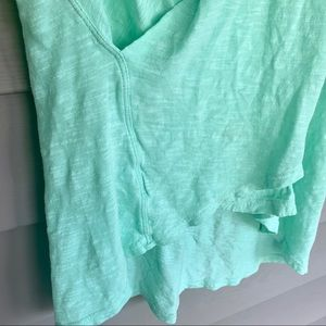 Anthropologie Tops - Anthro Left of Center Mint Draped Tank Top